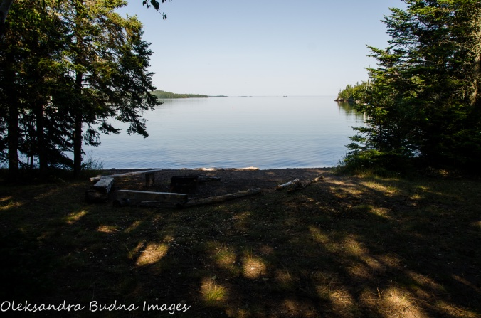 backcountry site at Tee Harbour at Lake Superior