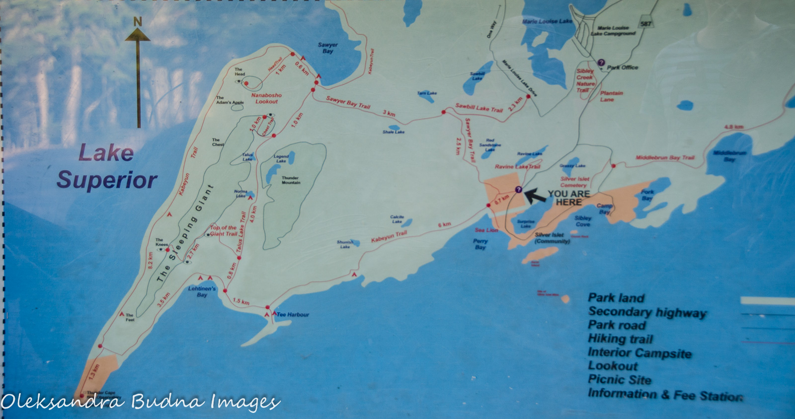 Lake Superior Provincial Park Map
