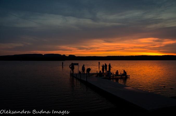 sunset at Marie Louise Lake at Sleeping Giant