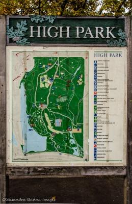 High Park map
