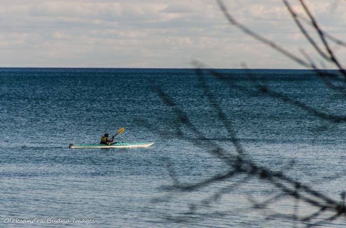 kayaker on Lake Ontario