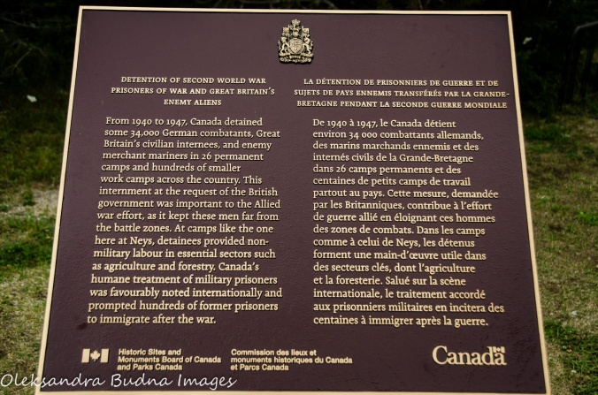 historical plaque i Neys Provincial Park