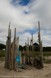 driftwood fort in Neys Provincial Park