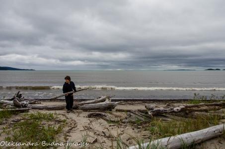 beach in Neys Provincial Park