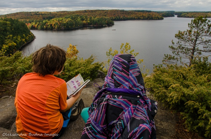 view from Stormy Lake Bluffs in Restoule Provincial Park