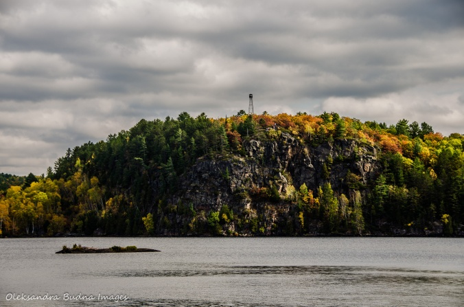 Stormy Lake Bluffs in Restoule Provincial Park