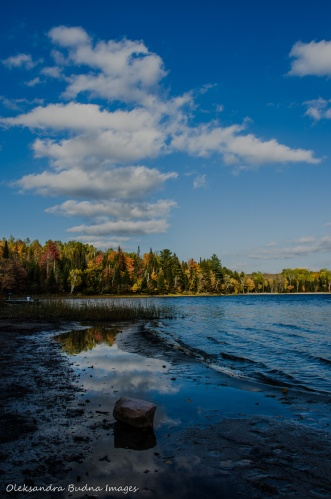 Restoule Lake in the fall