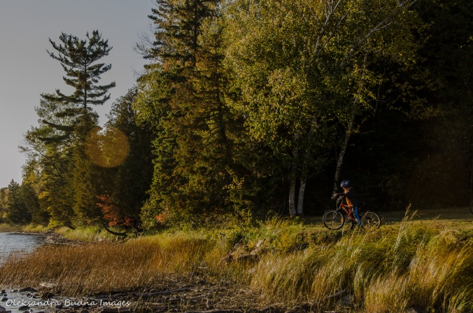 biking in Restoule provincial park