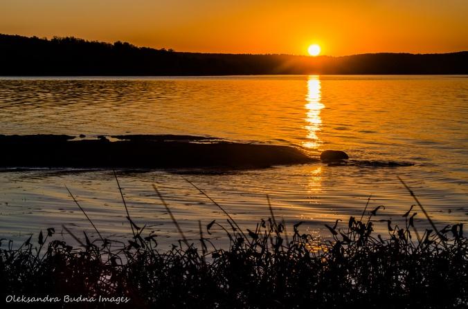 sunrise over Restoule Lake
