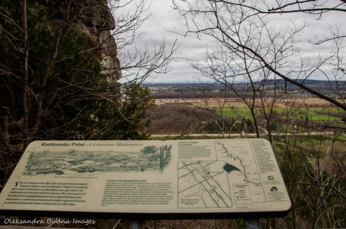 interpretive panel at Rattlesnake Point