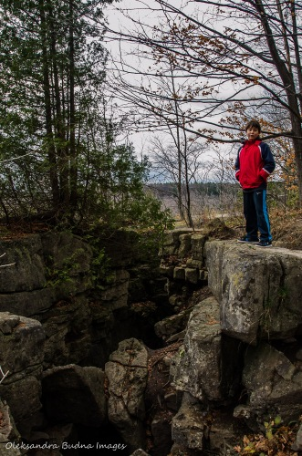crevice at Rattlesnake Point