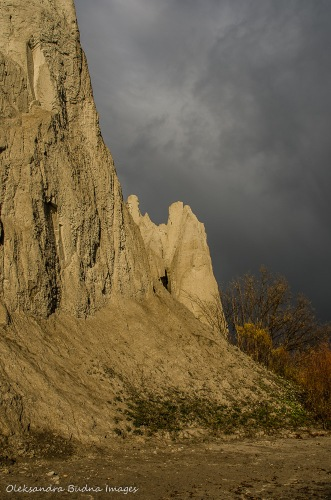 Scarborough Bluffs in Toronto on a fall day