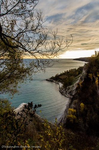 view from Scarborough Bluffs in Toronto