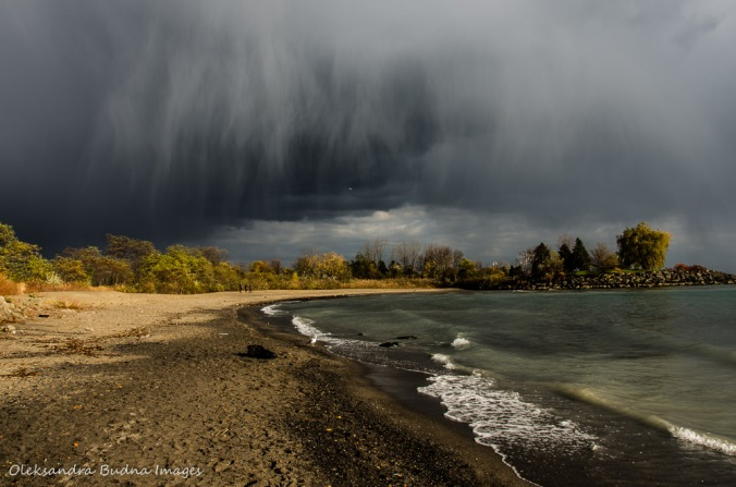 dramatic clouds over Lake Ontario