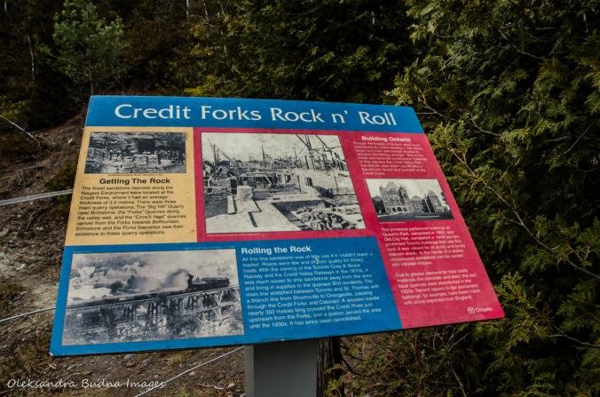 information panel at Forks of the Credit Provincial Park