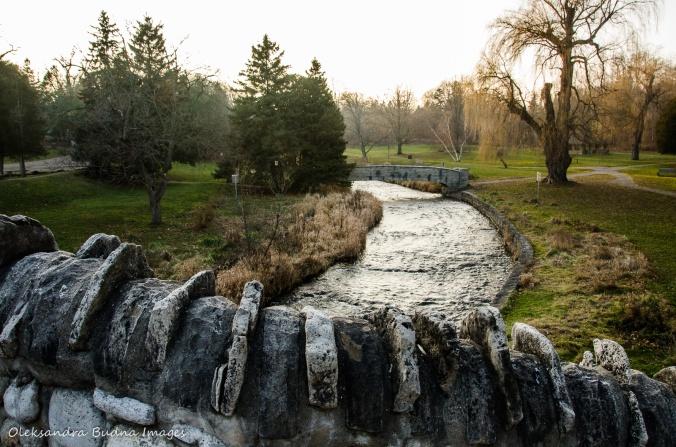 view from cobblestone bridge near Webster's Falls near Dundas, Ontario