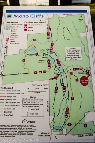 Mono Cliffs Provicial Park map