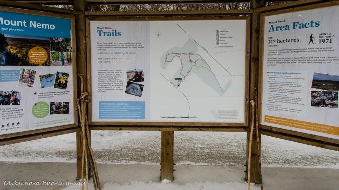 information panel at Mount Nemo in Halton