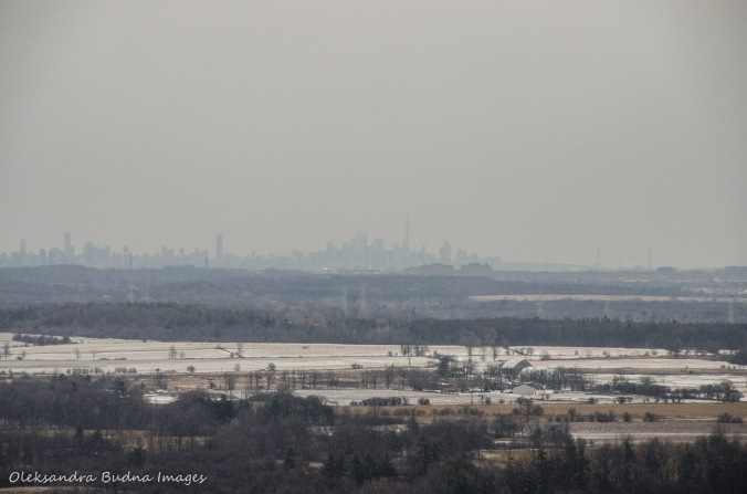 view of CN Tower from Mount Nemo in Halton