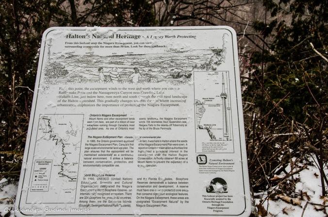 information panel at Mount Nemo