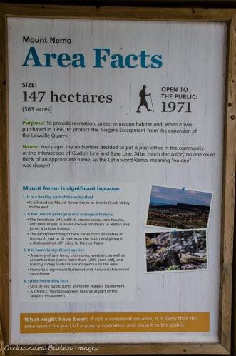 Mount Nemo information panel