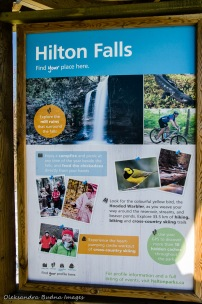 Hilton Falls Conservation Area information panel