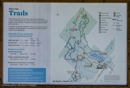 Hilton Falls Conservation Area trails map