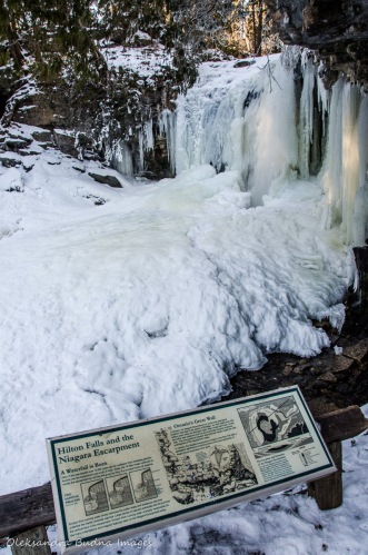 waterfalls at Hilton Falls Conservation Area