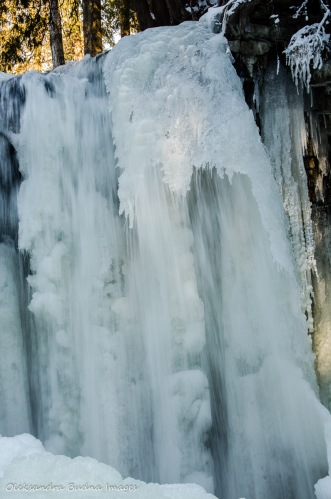 froze nwaterfall at Hilton Falls Conservation Area
