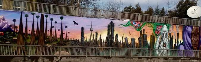 mural on Lawrence Avenue in Toronto