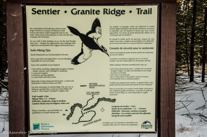 Granite Ridge Trail sign in Killarney