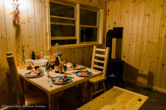 inside a camp cabin in Killarney