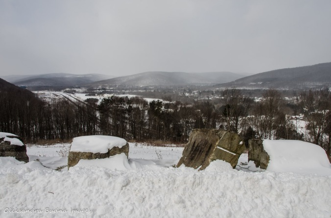view of Allegany State Park in the winter