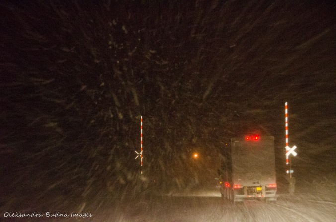blizzard on the road
