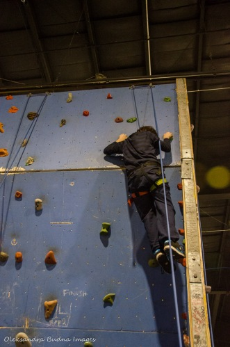 climbing wall at Outdoor Adventure Show