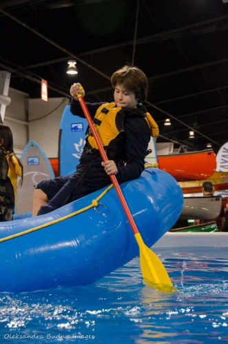 paddling demo at Outdoor Adventure Show