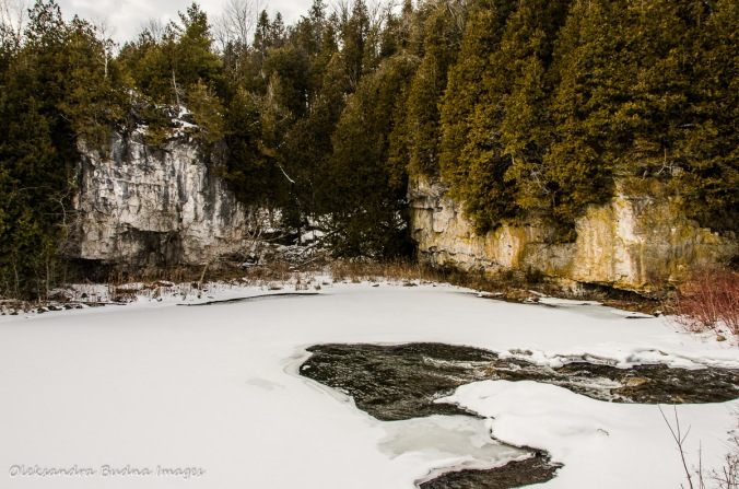 Rockwood Conservation Area in the winter