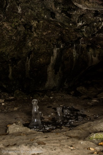 icicles in a cave at Rockwood Conservation Area