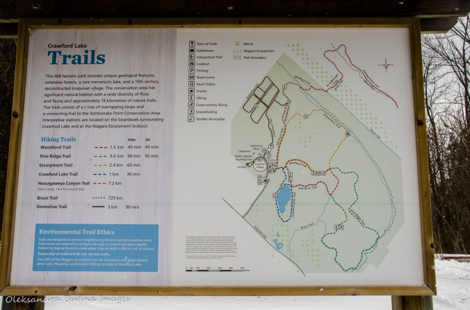 map of Crawford Lake Conservation Area
