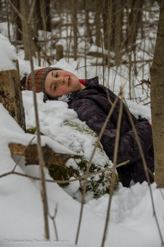 taking a rest during a hike at Crawford Lake Conservation Area