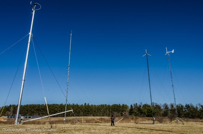 wind energy field at Kortright Centre for Conservation