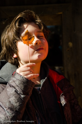 child holding a maple syrop lollypop