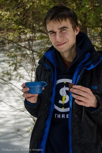 snack break on the trail
