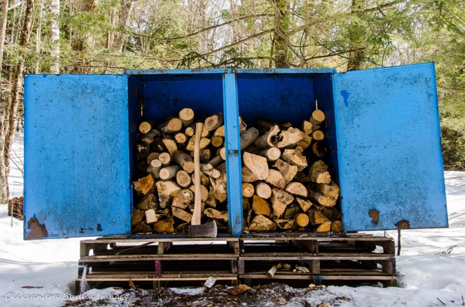 fire wood bin at Silent Lake PP