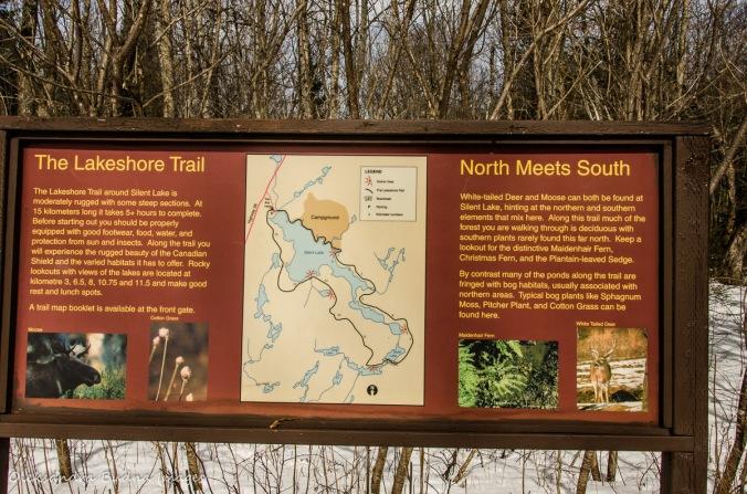 Lakeshore trail map at Silent Lake
