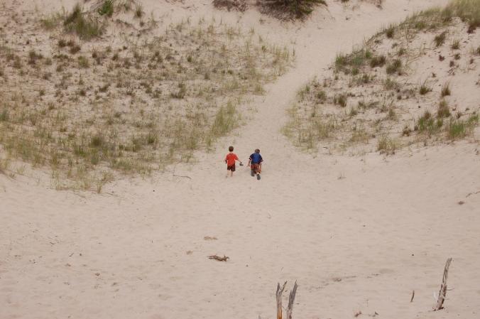 kids in the dunes