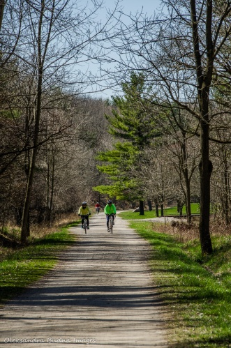 cyclists at Dundas Valley Conservation Area