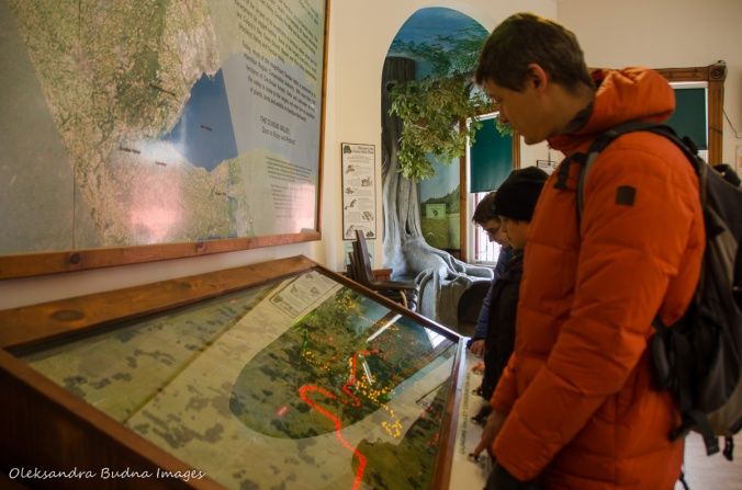 interactive trail map at Dundas Valley visitor centre