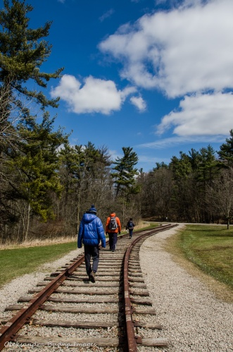 railway tracks at Dundas Valley Conservation Area
