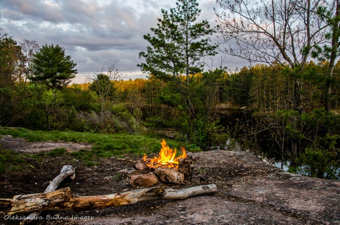 campfire at Queen Elizabeth II Wildlands